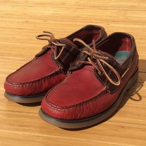 Sperry Top Sider Leather, Rare Two-tone Men's 8.5